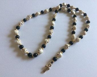 Skull Kemetic Rosary Prayer Beads
