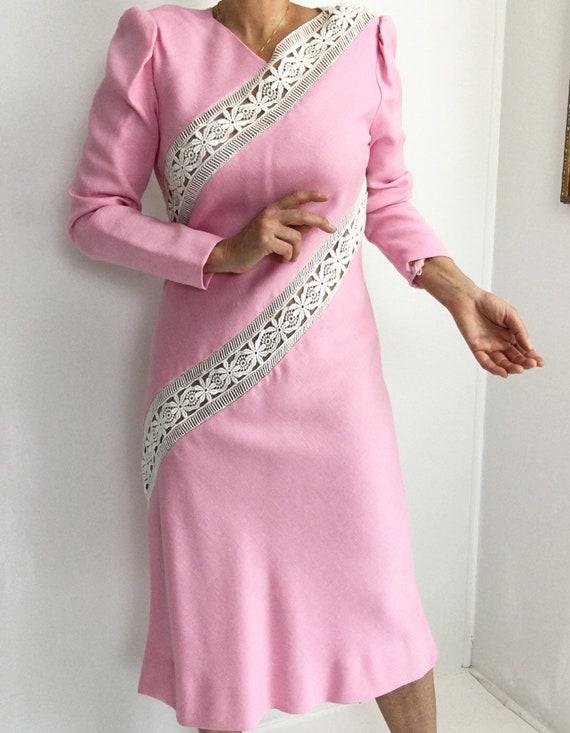 Collectors Piece! Vintage Original Travilla Pink … - image 5