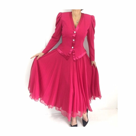Hot Pink Deadstock! Amazing Vintage Hot Pink Chiff