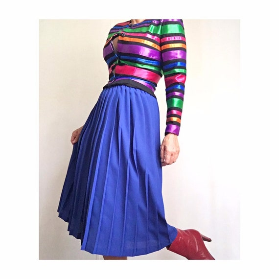Vintage 80s Pleated Leslie Fay Classic Skirt