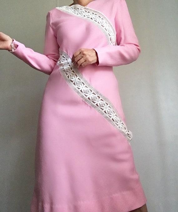 Collectors Piece! Vintage Original Travilla Pink … - image 10
