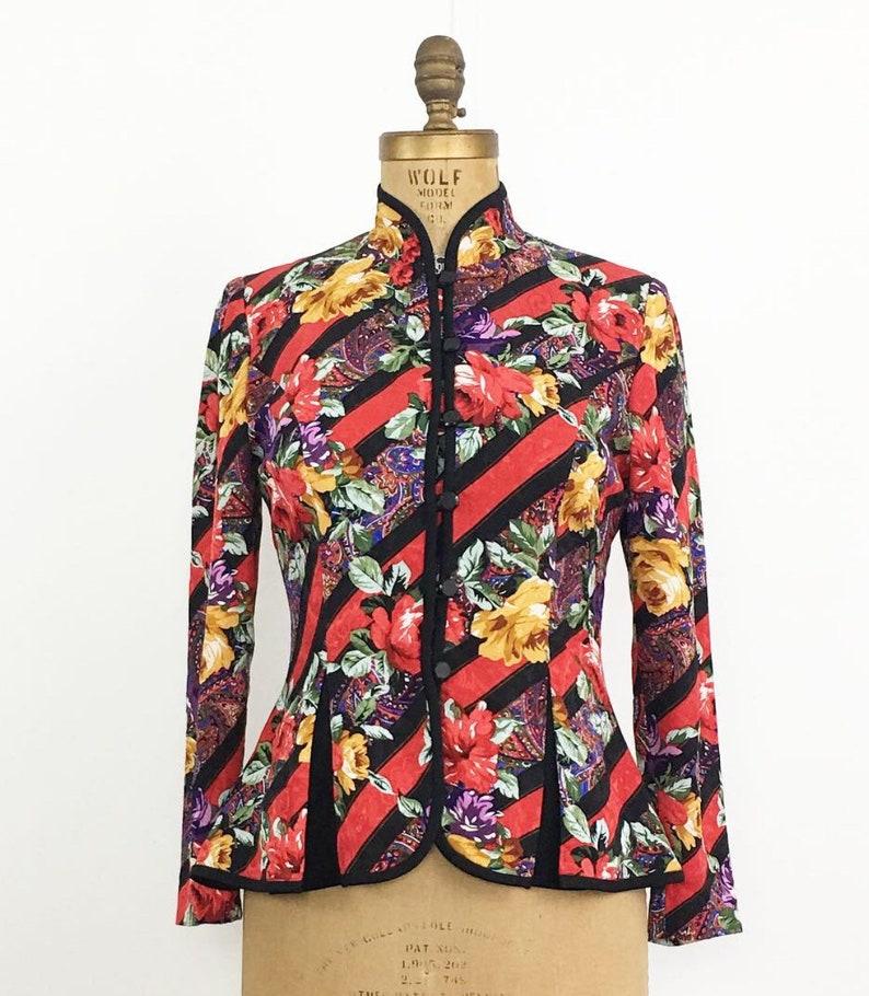 Beautiful Vintage 1980/'s Richard Warren Silk Blouse Asian Style
