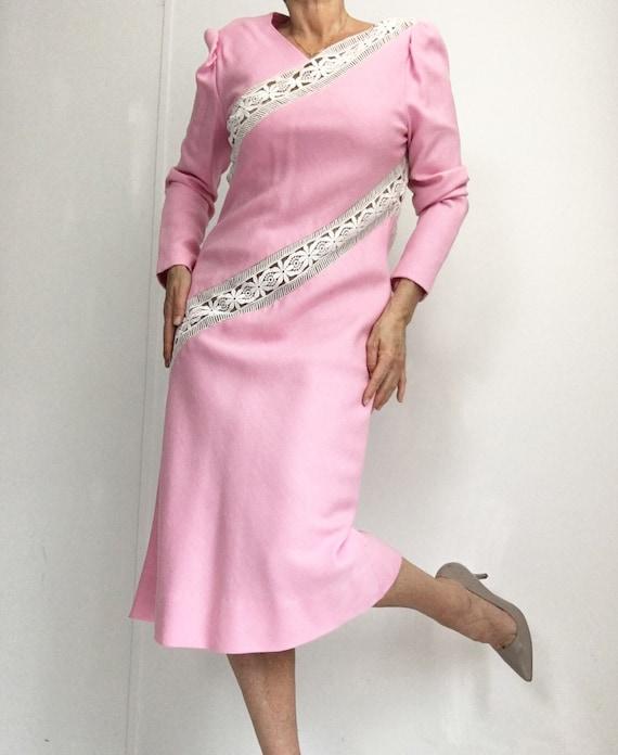 Collectors Piece! Vintage Original Travilla Pink … - image 2