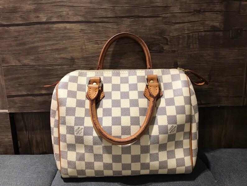 5c299f2c0dfb Louis Vuitton Speedy 25 Damier Azur Bag Authentic Louis