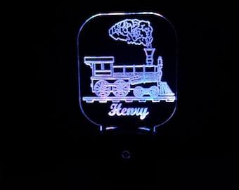 lamp Nursery light Railroad Crossing Train Personalized LED Night Light