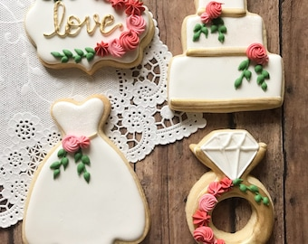 Bridal Shower Cookie Etsy