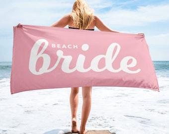 Bride Towel, Bride Beach Towel, Beach Bridal Shower Towel, Beach Bride, Beach Bachelorette Party, Bachelorette Towels, Bridal Shower Gift