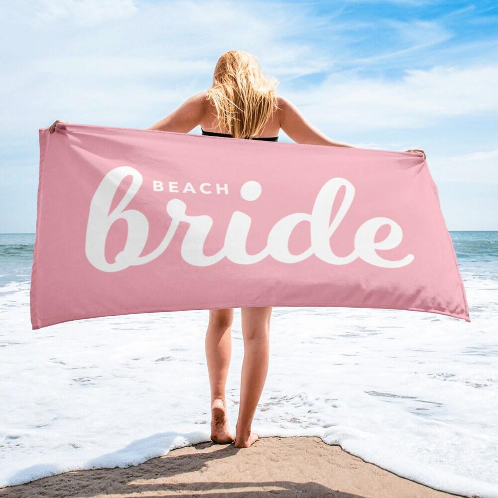 Bride Towel Bride Beach Towel Beach Bridal Shower Towel   Etsy