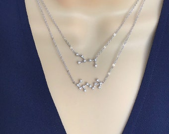 libra necklace sterling silver