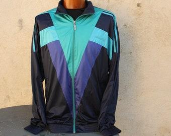 c13db19880 Vintage Adidas jacket size M L very good condition oversized retro vapor  sport motif