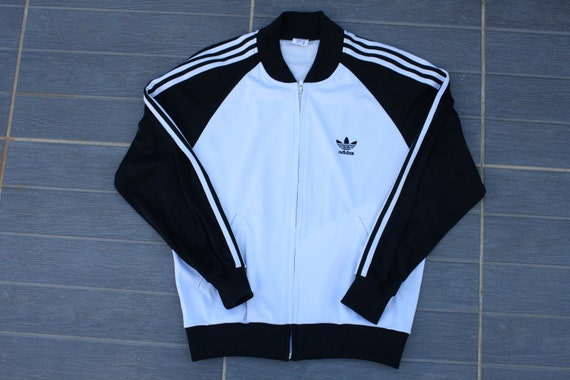 80fc6974bb695 Adidas vintage sweat jacket size M excellent condition three stripes