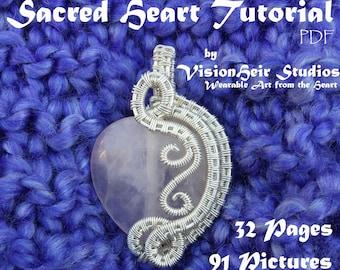 Beginner Wire Weave Tutorial - Sacred Heart Pendant