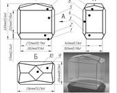 Large geometric terrarium glass box. Succulent planter. Download pintable pattern. Project Brillant3d. Stain glass pattern