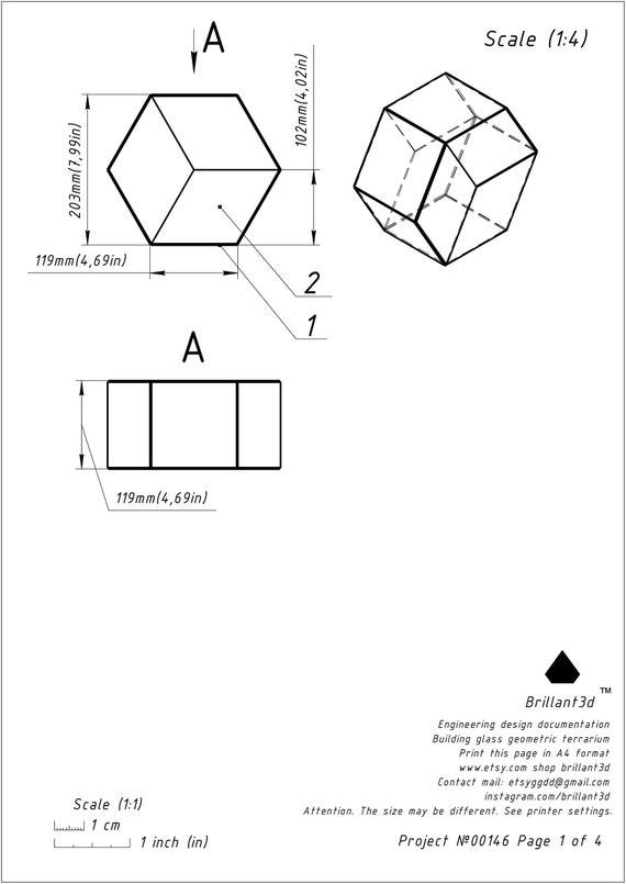 Geometric Florrarium Printebl Pattern Stained Glass Metod