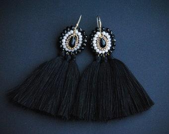 Oscuridad Tassel Earrings