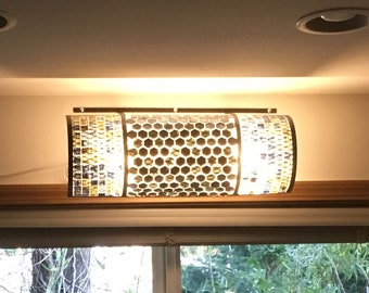 Multicolored, Iron And Glass Light Cover