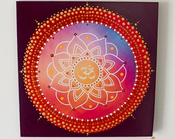 OM Mandala, painting, meditation, art therapy