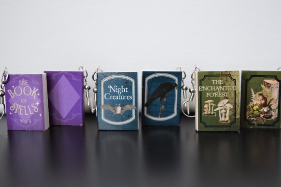 Tiny Mystical Book Dangle and Drop Earrings