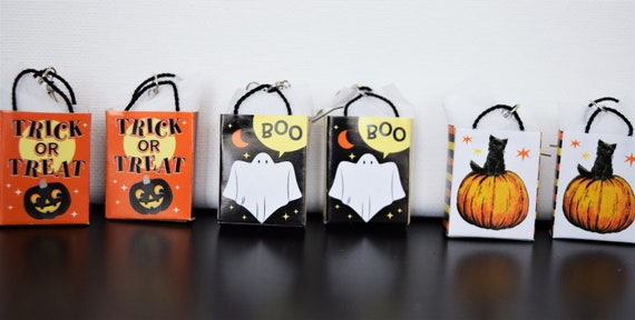 Tiny Trick or Treat Bag Dangle and Drop Earrings