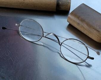 9b541b8b4657 Antique Victorian Steel Framed Spectacles   Glasses original wooden case