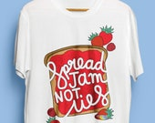 Spread Jam Not Lies Illustrated Unisex Organic Cotton Tshirt. Earth Positive & Vegan Friendly in sizes XS-3XL.