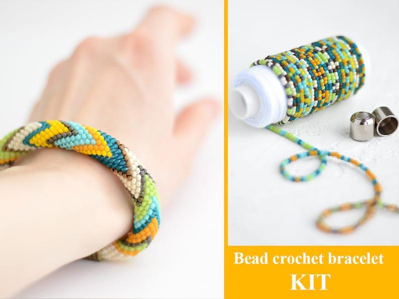 Bead Crochet Rope Kit Bead Crochet Bracelet Pattern Crochet Etsy