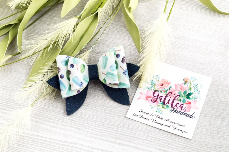 Blue Popsicle Sweetie Bow Special Occassion Bow