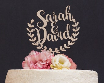 Wreath Cake Topper Etsy