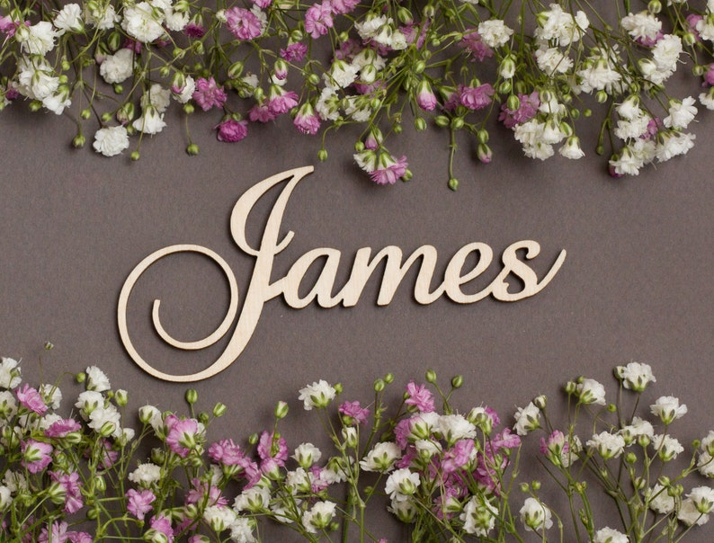 Personalized Place Cards Modern Calligraphy Names Wood Name Cutout Laser Cut Names For Weddings Wood Name Plate Wedding Place Cards