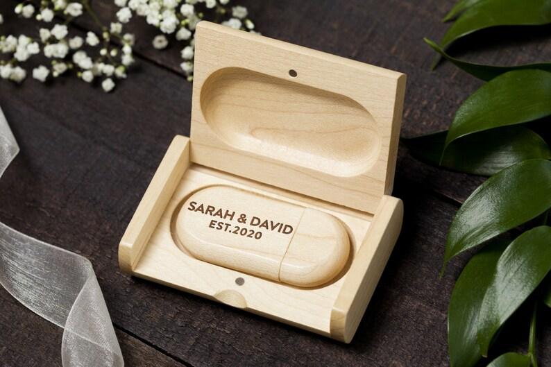 Antler USB Drive Deer Wedding USB Drive With Box 16gb or 32gb usb Rustic Wedding Favor Deer USB Buck /& Doe Custom usb Stick With Box