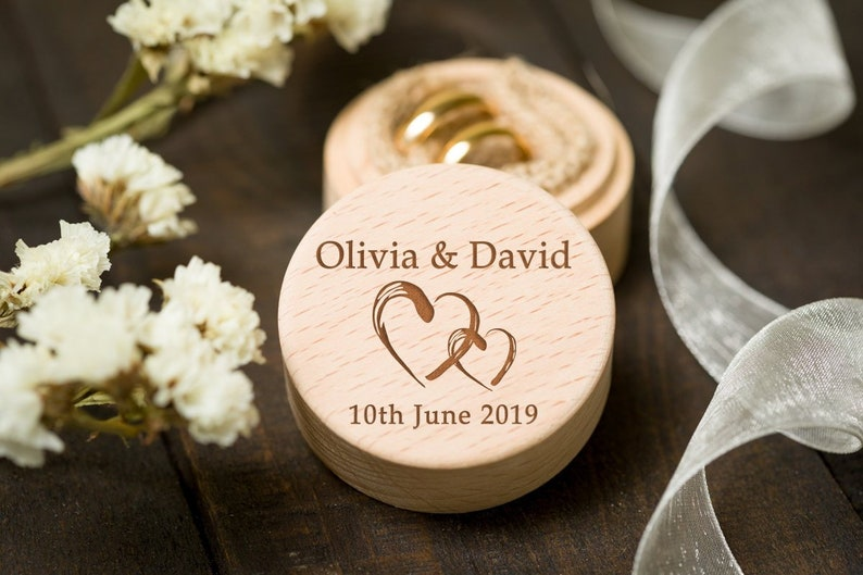 Custom ring box Wedding ring box Custom Names Ring Box Ring bearer box Personalized Ring Box Unique ring box Wooden ring box