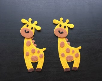 Felt Die Cuts Cute Giraffe Set Of Two