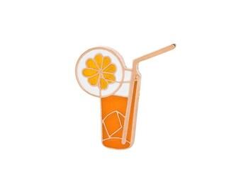 Badges of orange juice