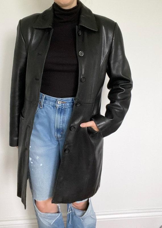 Vintage Black Danier Leather Jacket