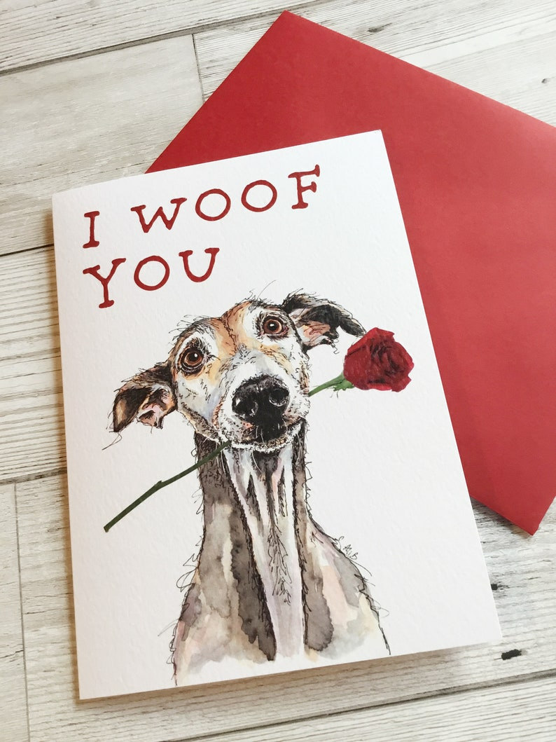 CUSTOM TEXT Gifts Birthday Card Greyhound Whippet Lurcher Italian Cards Gift
