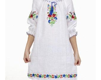 Embroidered Dress gift for Her Gift for Christmas Gift for daughter Dress for girl Embroidered Dress Dress Ukrainian Vyshyvanka