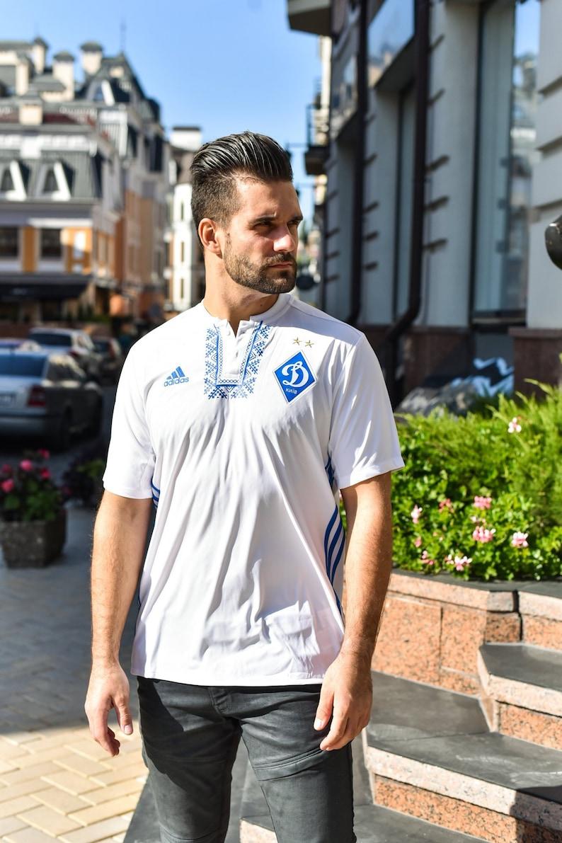 ede22935 Dynamo Kiev T-Shirt . Football, Men's Football Game Shirt, Football Shirt.  Ukrainian vyshyvanka. Traditional Ukrainian shirts