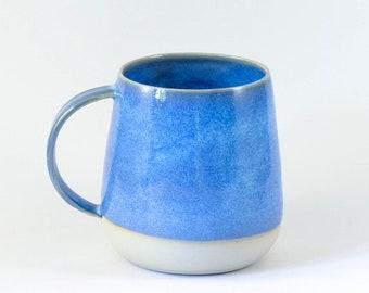 Blue, handmade ceramic mug