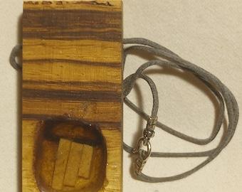 Zebra wood necklace