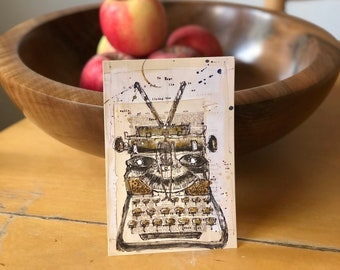 TYPEWRITER POSTCARDS, Featuring Original Artwork by Sondra Holtzman