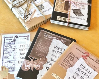 ANALOG EXPLORER Notebooks, 3-pack, Lined Mini-Journals for TYPEWRITER Enthusiasts