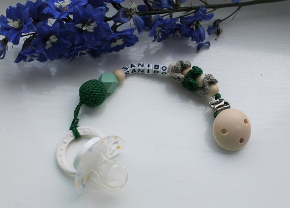 Crochet Pacifier Holder Personalized Pacifier Holder Etsy