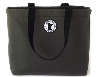 Vintage American Flag Minnesota State Minneapolis Skyline Womens Fashion Large Tote Ladies Handbag Shoulder Bag