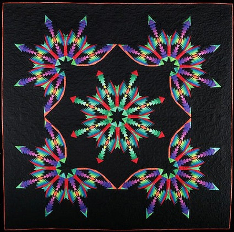 Lakeview Quilts Star Burst Pattern Kit Etsy
