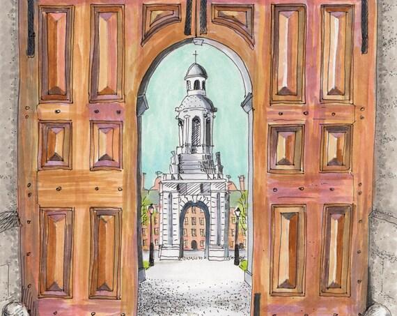 "Trinity Gates, Dublin. 12""x10"""