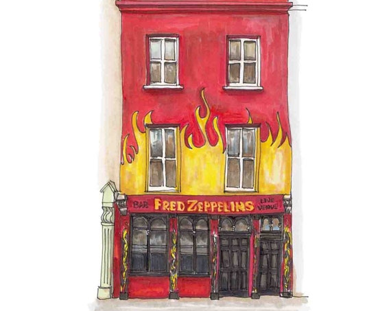 "Fred Zeppelins, Cork city, Cork, 5""x7"""