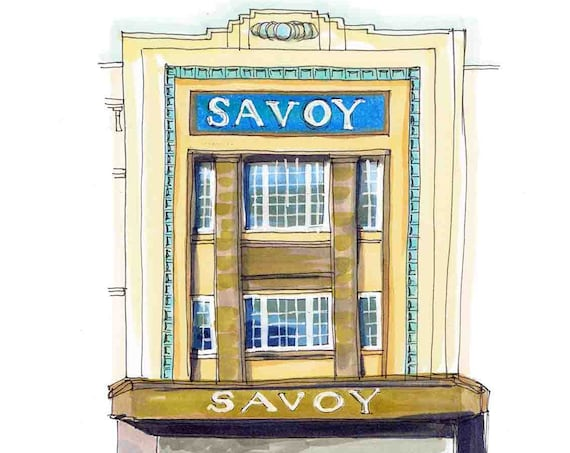 "The Savoy, Cork.  5""x7"""