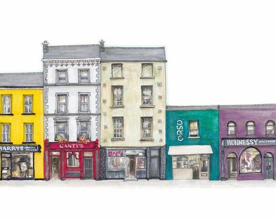 """Pembroke street, Cork city, Cork. 12""""x8"""""""