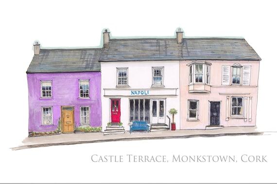 "4-6 Castle Terrace, Monkstown, Cork. (Napoli)12""x8"""