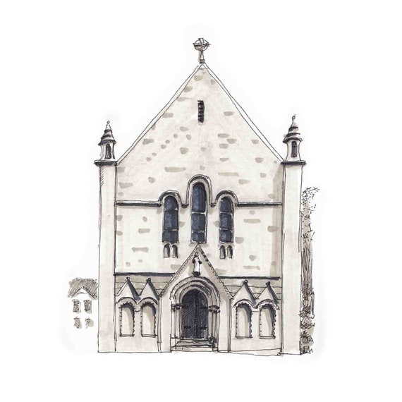 "The Honan Chapel, UCC. 7""x7"""